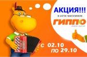 Акция в сети магазинов ГИППО с 02.10 по  29.10 !!!