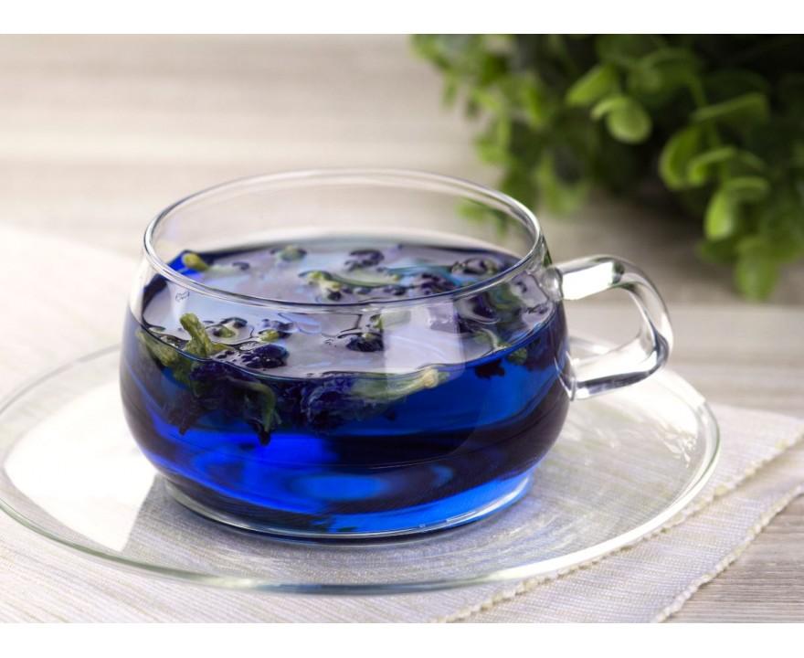 Цветки клитории тройчатой (синий чай, анчан)