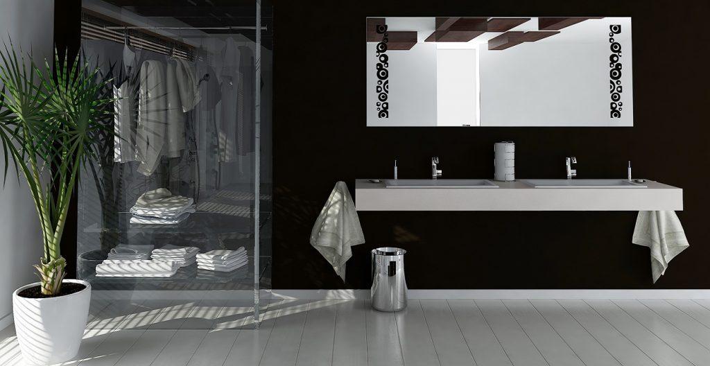 Использование темных оттенков в интерьере ванной