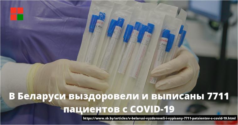 В Беларуси выздоровели и выписаны 7711 пациентов с COVID-19 1
