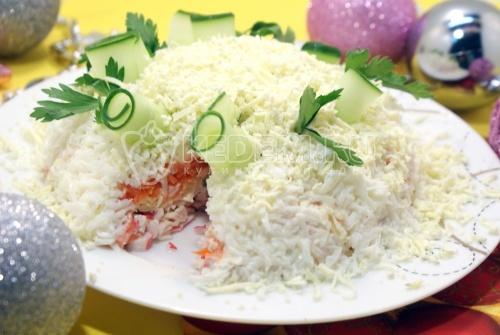 Новогодний салат «Нежность» 1