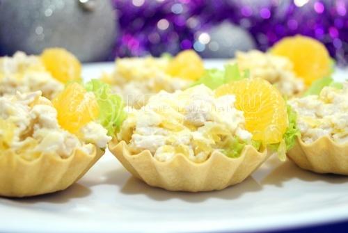 Тарталетки с салатом «Мандариновый рай» 1