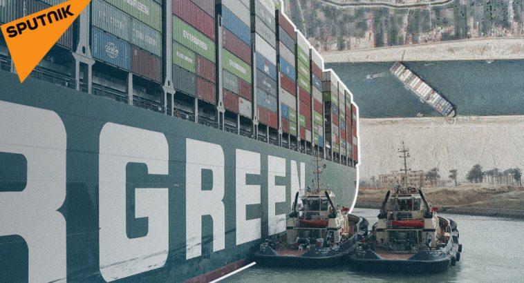 Как один контейнеровоз остановил Суэцкий канал и мировую экономику - видео 1